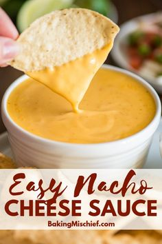 This quick and easy nacho cheese sauce is perfect for pouring over nachos, veggies, and soft pretzels. This quick and easy nacho cheese sauce is perfect for pouring over nachos, veggies, and soft pretzels. Easy Nacho Cheese Recipe, Easy Cheese, Cheese Sauce For Nachos, Homemade Nacho Cheese Sauce, Nacho Cheese Crockpot, Easy Nachos Recipe, Best Cheese For Nachos, Nacho Sauce Recipe, Mexican Cheese Sauce