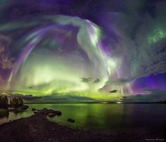 Aurora over Apatity, Murmansk region, Russia, September 2015