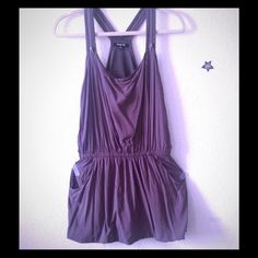 Zipper Racerback dress Has lining. Flaw: shown on 3rd pic. Pockets. 2nd pic upper dress shows true colors Dresses Mini