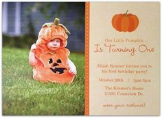 first birthday fall party ideas - For Mason!