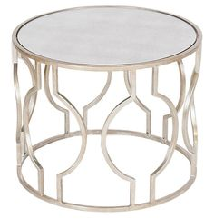 One Kings Lane - A Serene Scene - Lauri Cocktail Table, Silver