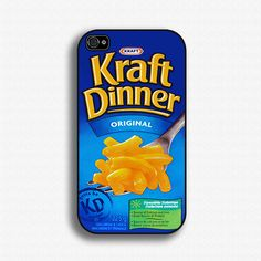 Kraft Dinner - iPhone 4 Case, iPhone Case, and iPhone 5 OMG! I need this case! Ipod 5 Cases, Funny Phone Cases, Cool Iphone Cases, Cool Cases, Iphone 4s, Phone Covers, Kraft Dinner, Iphone Accessories, Apple Products