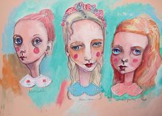 White, Blue and Pink Collared. The classes of fashion. #illustration #art