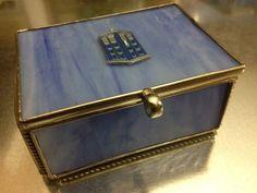 Doctor Who TARDIS Sea Glass Trinket Box by urbanindustries on Etsy, $35.00