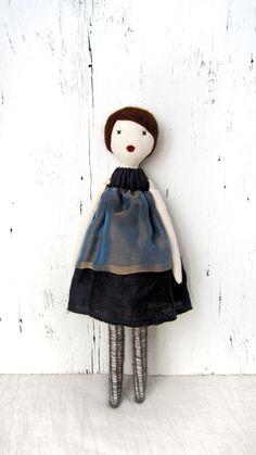 Cloth doll, Rag doll, handmade, soie , one of a kind / Sumi