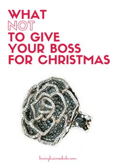 Definitely DON'T give your boss this glamorous black and white diamond cocktail ring from DazzlingRock for Christmas! And not for Hanukkah, Kwanzaa, or Winter Solstice either. It would make a TERRIBLE holiday gift.