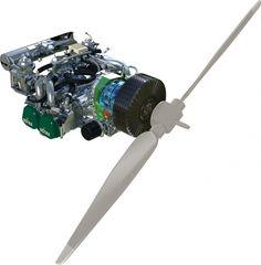 Ashot Ashkelon hybrid system with Rotax 912 or 914, electric motor/generator