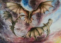 Three dragons by https://kairathecat.deviantart.com on @DeviantArt
