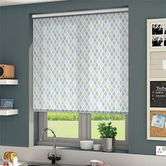 Parasol Baltic Roller Blind from Blinds Roller Blinds, Curtains, Shapes, Cool Stuff, Bathroom, House, Dining Room, Sky, Home Decor