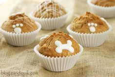 Apple Crunch Pupcakes- Cupcakes for the Sweet Canine in your life