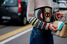 Veronica, Milan Fashion Weeks, Louis Vuitton Twist, Street Style, Shoulder Bag, My Style, Crochet, Bags, Trends