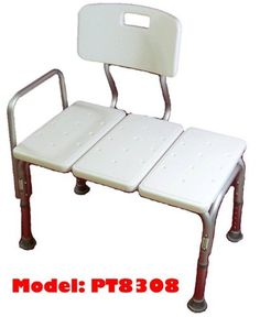 Bathtub transfer Bench/Bath Chair With Back, Wide Seat, Adjustable Seat Height, Sure Gripped Legs, Lightweight, Durable, Rust-Resistant Shower Bench
