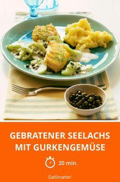 Gebratener Seelachs mit Gurkengemüse - smarter - Zeit: 20 Min. | eatsmarter.de