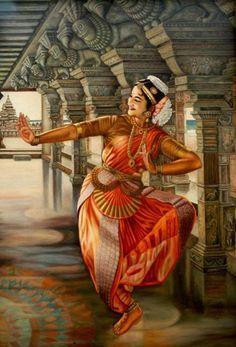 Traditional Dance Of TamilNadu Indian Women Painting, Indian Art Paintings, Indian Artist, La Bayadere, Indian Classical Dance, Dance Paintings, India Art, Mystique, Dance Poses