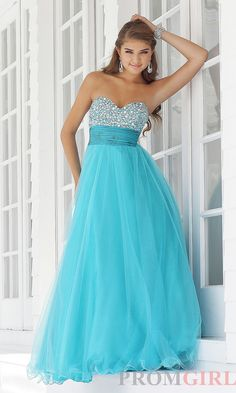 Strapless Ball Gowns, Blush Strapless Quinceañera Dress- PromGirl