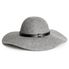 H&M Wool hat ($18) ❤ liked on Polyvore featuring accessories, hats, grey marl, wool hat, grey hat, h&m hats, gray hat and woolen hat