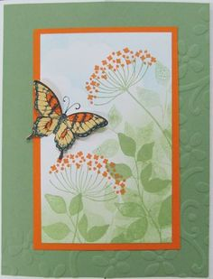 Some of the products she used on this card are:  129216 Swallowtail Stamp Set  123759 Papillion Potpourri Stamp Set  126447  Summer Silhouettes  120651  Word Play Stamp Set  127526Elegant Butterfly Punch