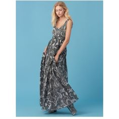 Diane von Furstenberg Floor-Length Pleat Dress ($498) ❤ liked on Polyvore featuring dresses, maxi, serret black, maxi length dresses, slip on dress, stretchy dresses, no sleeve dress and pleated dress