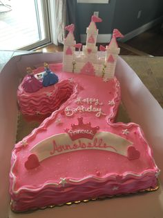Princess Shaped Number Two Cake