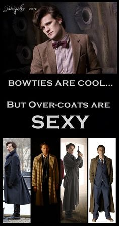 Bowtie vs. Overcoat. #DoctorWho