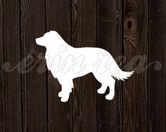 Border Collie Dog Wood Silhouette : Modern Art Print on Etsy, $12.00