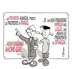 SATIRA N'EURODEFICIENTE: Proteste... balneari... - I Chinson