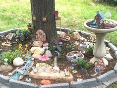Fairy Garden around the tree