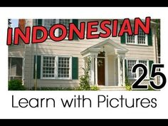 Learn Indonesian Vocabulary with Pictures - In the Home