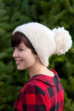 Pom-Pom Hat, free pattern by Is + Was: