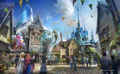 Hong Kong Disneyland Frozen land arendelle