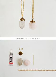 DIY Decadent crystal necklace necklace diy crystal necklace crafts craft ideas diy crafts do it yourself crafty do it yourself crafts