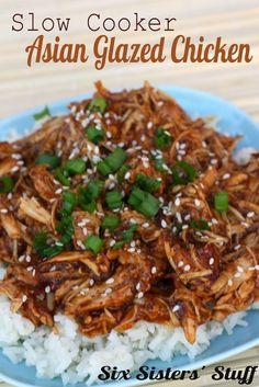 Slow Cooker Asian Glazed Chicken | Six Sisters' Stuff
