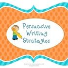 These are posters used for persuasive writing. These posters guide students and help organize their writing giving them examples of the different t...