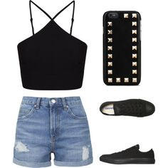 Snappy Casual by xleahnoelx on Polyvore featuring Miss Selfridge, Topshop, Converse and Valentino