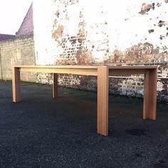 Solid Tasmanian oak dining table