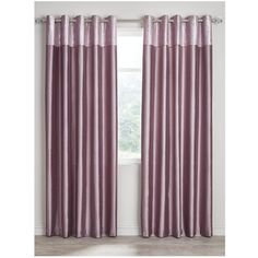 Morgan M/Top F/Silk Eyelet Curtains 90X72 ($42) ❤ liked on Polyvore featuring home, home decor, window treatments, curtains, patterned curtains, silk curtains, faux silk window treatments, metallic curtains and faux silk curtains
