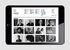 Website designed by Garbett for the Australian Institute of Architects' 2014 conference Making