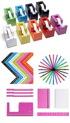 bright funky office supplies...poppin.com