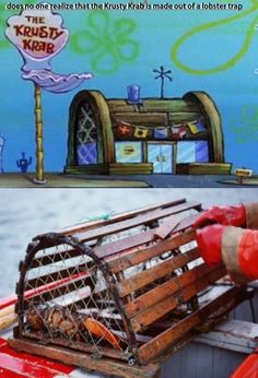 O.0 maybe this means that the secret formula is crab or lobster. Which would make sense seeing as it's called a Krabby Patty and it's eaten inside a lobster trap......:(