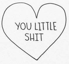love you little shit to my husband lol Words Quotes, Wise Words, Me Quotes, Sayings, Qoutes, Youre My Person, Make Me Smile, Favorite Quotes, Favorite Things