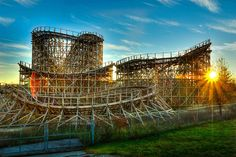 HDR of Celebration City in Branson Missouri. THe park was in operation about 2 or 3 years and then closed. Leaving the Bones of the Park behind.