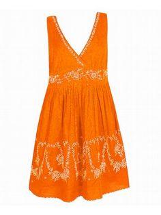 Plus Size Orange Sky Dress