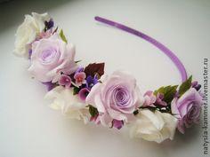 Ободки+с+розами+`Весне+навстречу`.+Ободки+с+розами+для+украшения+Вашей+прически,+оригинальное+романтическое+украшение.+Очень+легкие,+крепление+проволочное,+без+использования+клея.+Создадут+весеннее…