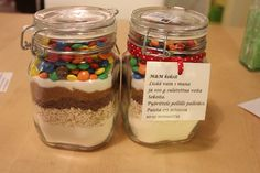 parempia yhdes ku eriksee: Luukku 7: Lahja ideoita! Christmas Gifts, Xmas, Holidays And Events, Mason Jars, Diy And Crafts, Deserts, Projects To Try, Food And Drink, Baking