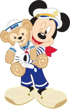 Duffy & Mickey Mouse.
