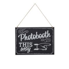 Photobooth Schild - Online-Shop Maison Mariée