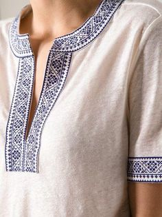 Folklorique Detail on Tory Butch tunic.