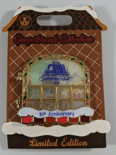 Disney Pin Trading Gingerbread Collection 2019 Contemporary Resort Anniversary Limited Edition Hinged Pin Brand New, from Walt Disney World Parks in Florida Disney Trading Pins, Disney Pins, Walt Disney, Holiday Treats, Christmas Treats, Grand Californian, Disney Hotels, Disney World Parks, Chip And Dale