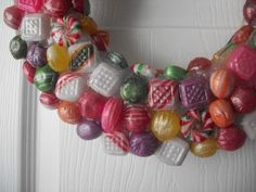 Jane of All Crafts: Faux Resin Candy Wreath