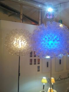 Lamp made from water bottles